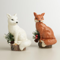 Paper Pulp Foxes,  Set of 2 - World Market