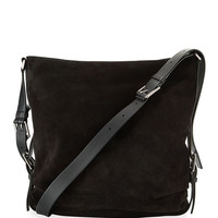 Michael Kors Naomi Large Mixed Leather Shoulder Bag