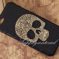 "Fashion skull mask Black Glitter phone case for iPhone 6 4.7"" or iphone 6 plus 5.5"" or iPhone 5/5s/5c case cover"