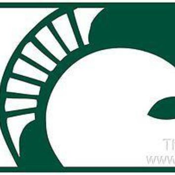 Michigan State Spartans MEGA Style Deluxe Laser License Plate Tag University