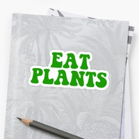 'eat plants' Sticker by katrinawaffles