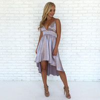 Buttercup Silk Dress in Lilac