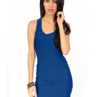 The Blue Party Cut Out Dress