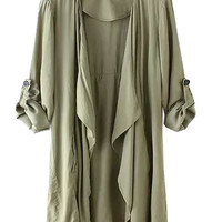 Army Green Long Lightweight Jacket