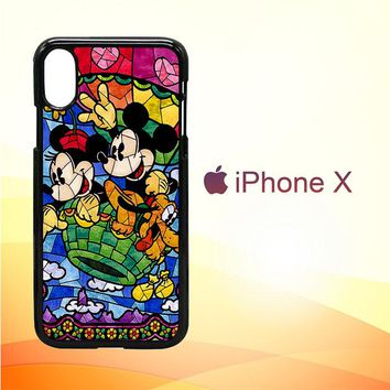 Disney Mickey & Minnie Mouse Stained Glass V0102 iPhone X Case
