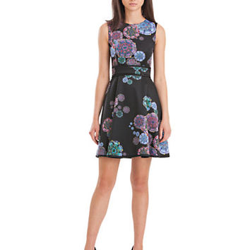 Cynthia Rowley Abstract Fit-And-Flare Dress