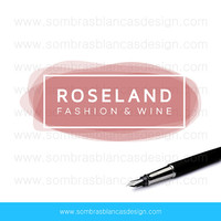 OOAK Premade Logo Design - Wine Watercolor - Perfect for a fashion blogger or a personal shopper