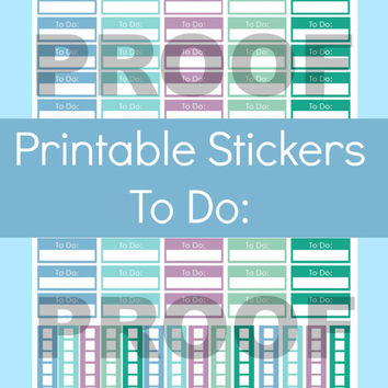 To Do List Stickers, To Do Stickers, To Do List Erin Condren, To Do List Planner Stickers, Printable Planner Stickers, Printable Stickers
