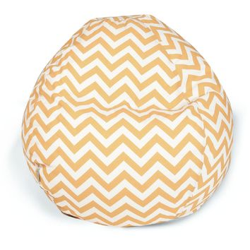 Yellow Chevron Small Classic Bean Bag
