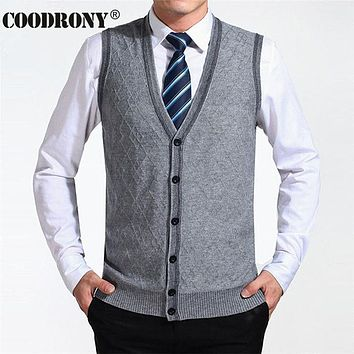 New Arrival Clothing Cashmere Sweater Men Cardigan Vests Wool Vest Knitted Men Cardigans Sleeveless