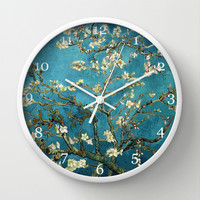 Blossoming Almond Tree, Vincent van Gogh. Wall Clock by ArtsCollection