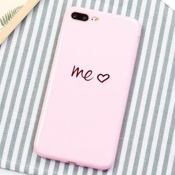 YOU ME Pattern Case for iPhone X 8 7 6S Plus &Gift Box