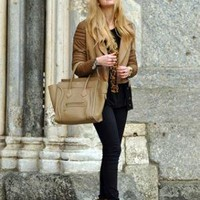 Asos Jacket, Celine Bag //    Camel tones and Celine bag by Chiara Ferragni // LOOKBOOK.nu