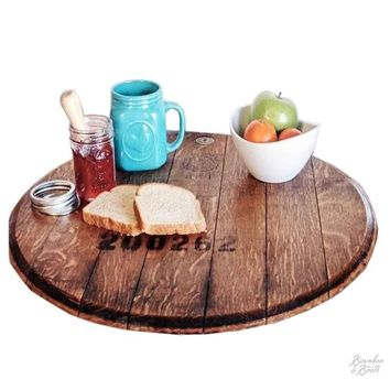 Reclaimed French Wine Barrel Wooden Lazy Susan