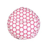 Small Classic Printed Bean Bag - Large Polka Dots - Hot Pink