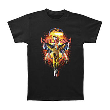 Lamb Of God Men's  Crucified Soldier T-shirt Black
