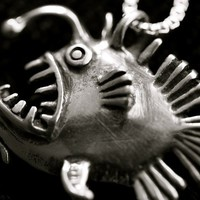 Angler Fish Necklace by martymagic on Etsy