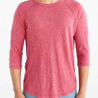 ALTERNATIVE Washed Out Slub Crew Neck Tee-