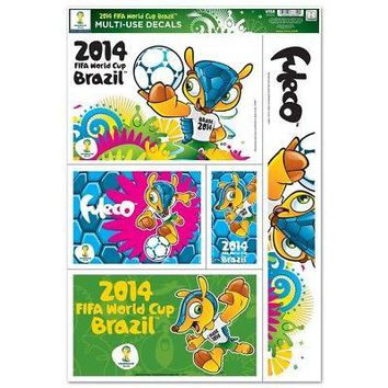 """Licensed Fifa World Cup Soccer Official Soccer 11"""" x 17"""" Car Window Cling Decal Wincraft KO_19_1"""