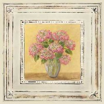Small Pink Hydrangeas In Vase