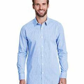 Artisan Collection by Reprime - Men's Microcheck Gingham Long-Sleeve Cotton Shirt