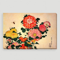 Chrysanthemums and Bee Wall Art - World Market