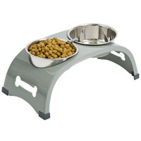 Top Paw® Elevated Arch Double Dog Feeder