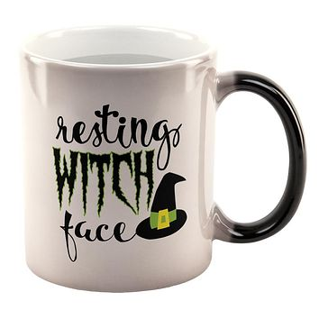 Halloween Resting Witch Face All Over Heat Changing Coffee Mug