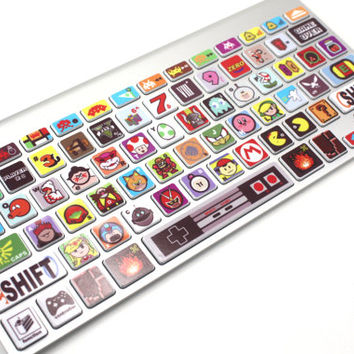 Macbook Keyboard Video Game Theme Skin