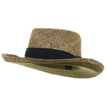 Gambler Straw Hat - Navy Band OSFM