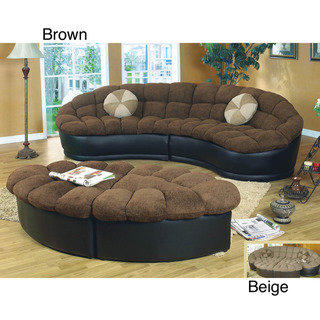 Papasan Two Piece Sectional Sofa From Overstock