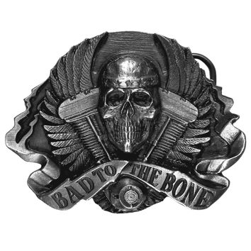 Sports Jewelry & AccessoriesSports Accessories - Bad to the Bone Antiqued Belt Buckle