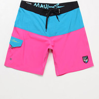 Maui & Sons Neon Aloha Boardshorts at PacSun.com