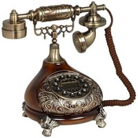 Antique Style Brass Cradle Telephone - #X6336 | LampsPlus.com