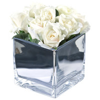 Buy Peony Roses In Glass Cube, Large online at John Lewis