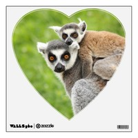 mother and baby lemur wall decal from Zazzle.com