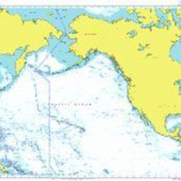 British Admiralty Nautical Chart  4008: A Planning Chart for the North Pacific Ocean