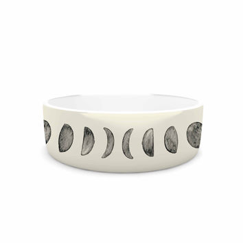 "KESS Original ""Phases Of The Moon"" Beige Gray Pet Bowl"