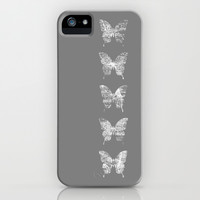 butterfly effect - grey option iPhone & iPod Case by Steffi ~ findsFUNDSTUECKE