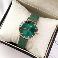 DIOR Women Fashion New More Color Quartz Watches Wrist Leisure Watch Green