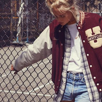 Free People Vintage 1960s Letterman Jacket