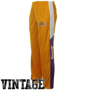 Majestic Los Angeles Lakers Youth Hardwood Classics Synthetic Pants - Gold - http://www.shareasale.com/m-pr.cfm?merchantID=7124&userID=1042934&productID=522514615 / Los Angeles Lakers