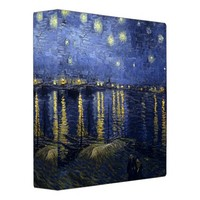 Starry Night by van Gogh Vinyl Binders