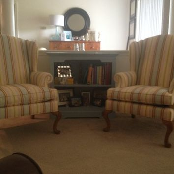 Matching Henredon Wing Back Chairs