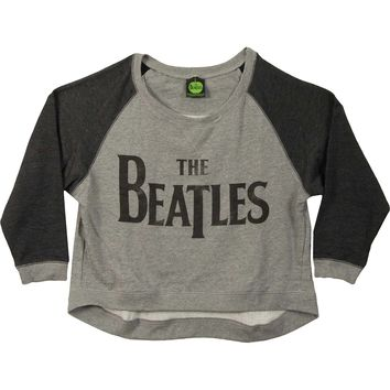 Beatles Women's  Drop T Logo Girls Jr Sweatshirt Grey/Charcoal