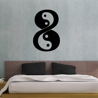 Housewares Wall Vinyl Decal Taoism (Daoism) Symbol Infinity Yin and yang Art Design Murals Interior Decor Sticker Removable Room SV3654