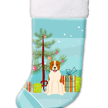 Merry Christmas Tree Central Asian Shepherd Dog Christmas Stocking BB4174CS