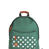 All Across Campus Backpack in Green Dots | Mod Retro Vintage Bags | ModCloth.com