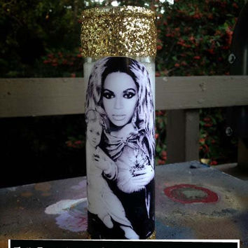 Sacred Heart Of Queen Bee Beyonce Prayer Candle