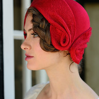 felt cloche-romantic red